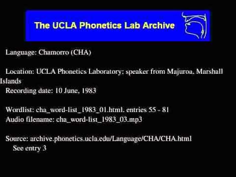 Chamorro audio: cha_word-list_1983_03