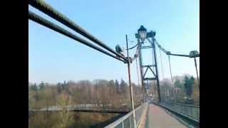 Житомирский «Ямакаси» лазит по канатам 40-метрового моста