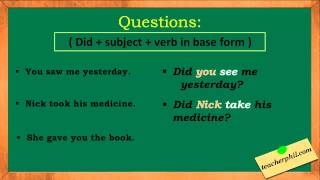 Simple past tense explanation