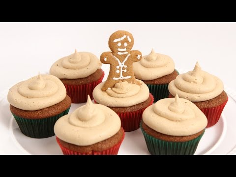 Gingerbread Cupcakes Recipe - Laura Vitale - Laura in the Kitchen Episode 857