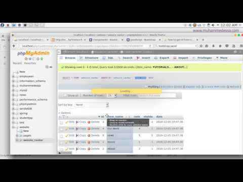 18   PHP & MySQL CMS Showing pages content with bootstrap Panel  using database