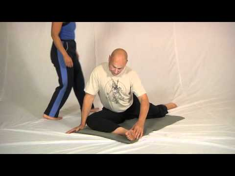 Floor piriformis stretch (plus partner assist)