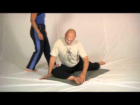 Floor piriformis stretch (plus partner assist)