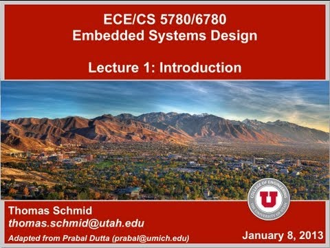 ECE/CS 5780/6780 Spring 13 - Lecture 1 - Introduction, Architecture