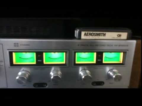 Technics RS-858DUS Quadraphonic 8 Track Deck Demonstration