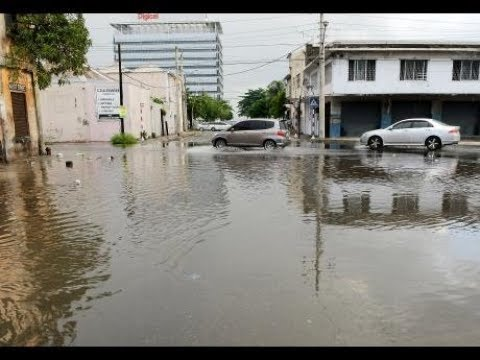 Downtown street flooded ... residents blame road construction