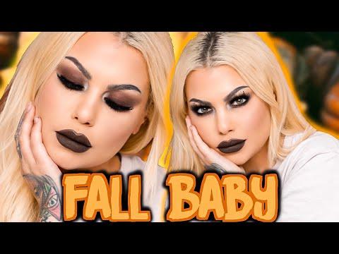 fall baby FALL makeup look. EASY Grunge makeup tutorial. CANDLES. SEASONS. FALL!! | Bailey Sarian