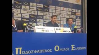 Press conference ΑΠΟΕΛ - Εθνικός Άχνας
