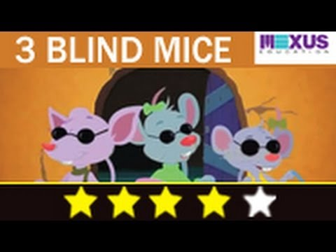 Three Blind Mice  - Nursery Rhyme -wYh2t7aryV4