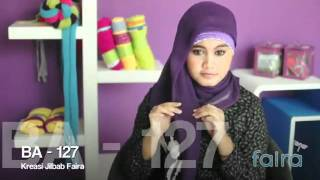 Hijab Tutorial Faira - Kreasi Jilbab Faira BA -- 127 - YouTube.flv