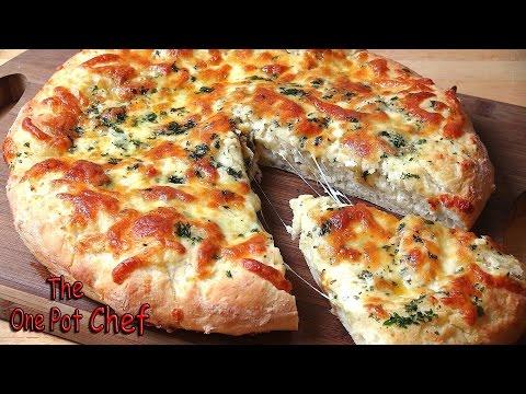 Cheesy Garlic Bread Pizza | One Pot Chef