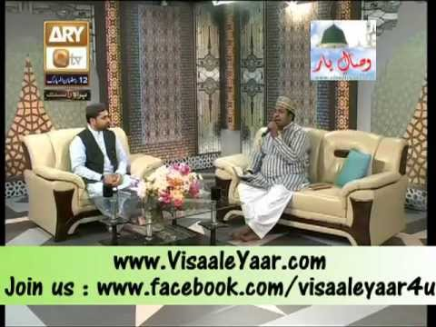 Rafiq Zia In Qtv Program Naat Zindagi Hai With Sarwar Naqshbandi.By   Naat E Habib