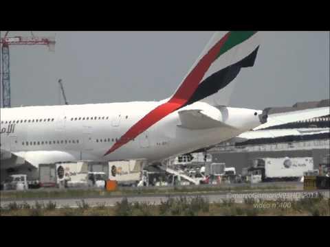 Emirates A380 | first landing | Rome Fiumicino Leonardo da Vinci [FULL HD]