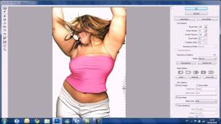 Photoshop CS5 Tutorial - Liquify Filter Virtual weightloss (HD)