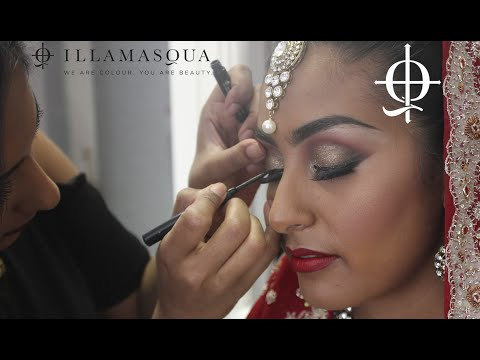 Asian Bridal Make Up Tutorial with Illamasqua Artist Leena