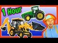 Colors Song, Nursery Rhymes, Learn to Count for Toddlers– Tractor Backhoe Collection for kids–1 Hour