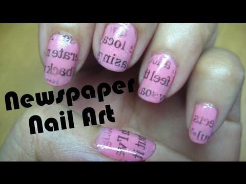 Newspaper Nail Art Tutorial -wcmO0R3Kqzo