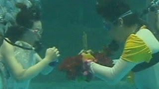 زواج تحت الماء فى الصين