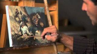Andy Thomas - Painter of Presidents Playing Poker Series - YouTube