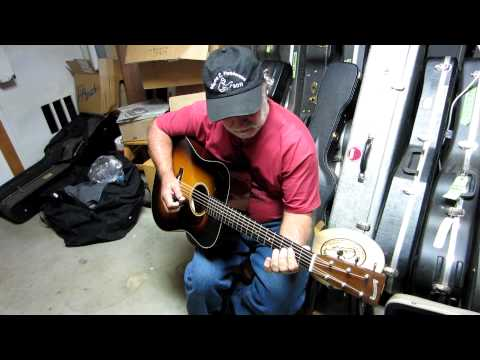 Wayne Henderson playing a Blazer and Henkes D-18 Guitar Video #1