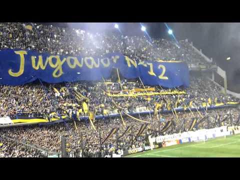 Hinchada de Boca en salida en La Bombonera vs Corinthians (final Libertadores 2012)