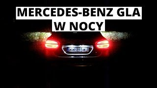 Mercedes-Benz GLA - ujęcia nocne