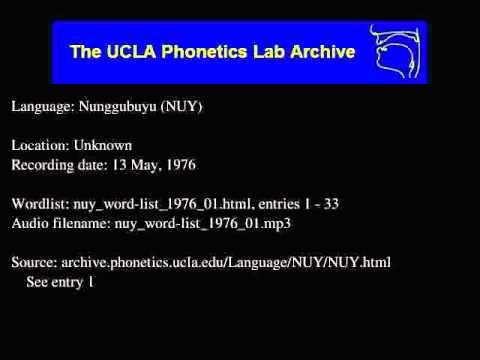Nunggubuyu audio: nuy_word-list_1976_01