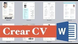 Como hacer y elaborar un curriculum vitae Facil, Rapido y Sencillo
