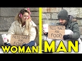 MAN vs WOMAN Homeless Experiment | Who will you help?