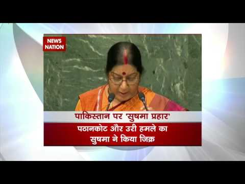 Sushma Swaraj raises terrorism issue at UNGA