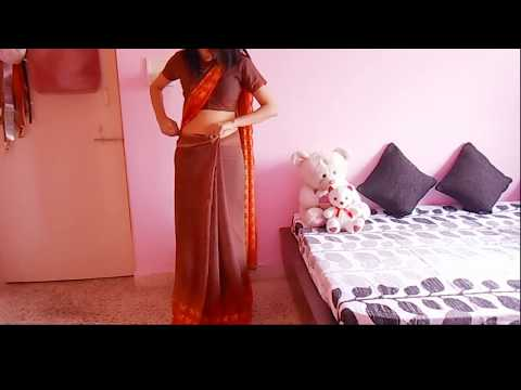 Bollywood Saree Draping Tutorial-Low Waist Sari Wearing Tutorial To Look Slim