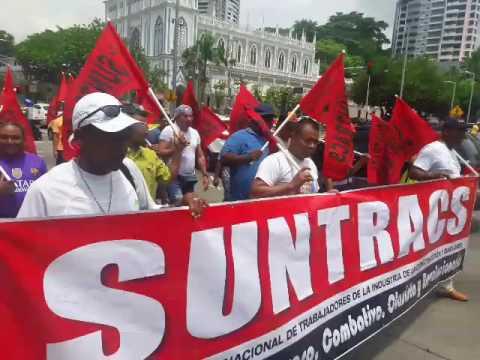 Não estamos sós! Trabalhadores do Panamá marcham em apoio à nossa Greve Geral