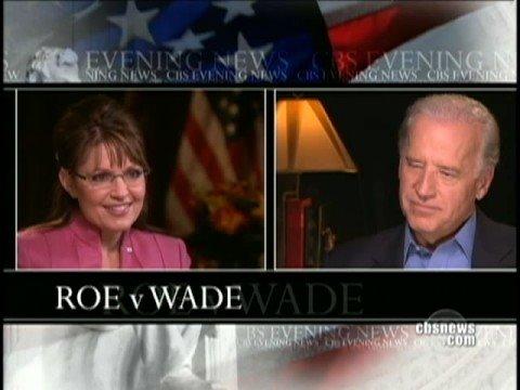 Palin, Biden On Roe V. Wade