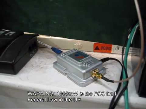 1 watt Wi-Fi amplifier 802.11b/g extends range to 5 bars in entire complex - default
