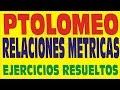 EL TEOREMA DE PTOLOMEO EN LOS CUADRILATEROS  EJERCICIOS RESUELTOS