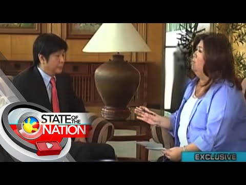 Jessica Soho interviews Sen. Ferdinand Bongbong Marcos Jr. on State of the Nation