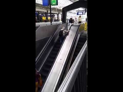 Missing your train and the only way is up the escalator