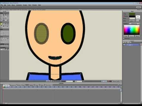 How to draw cartoon character ( anime studio 7 )