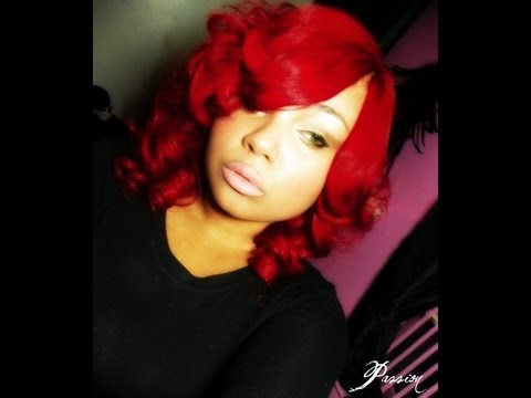 RIHANNA RED INSPIRED QUICK WEAVE HAIR TUTORIAL