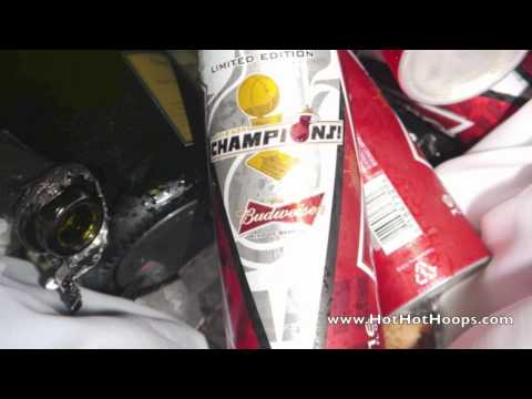 Exclusive: 2012 Miami Heat NBA Championship Postgame Celebration, locker room footage