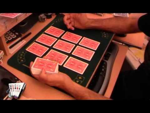Truco de magia revelado, explicado:las 9 cartas