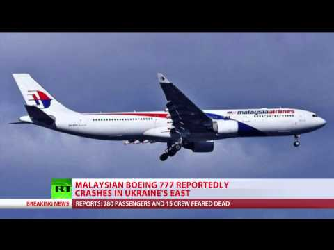 Malaysian airliner crashes in E. Ukraine, over 280 people on board   7/17/14  (Plane)
