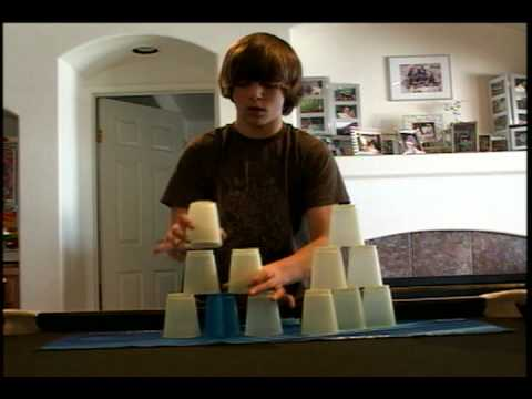my cousin Adam the cup stacker