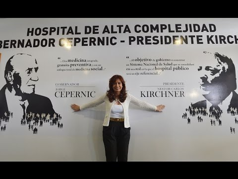 <b>Cadena Nacional.</b> Cristina inaugur� hospital en El Calafate.
