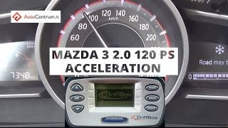 Mazda 3 2.0 120 PS AT - acceleration 0-100 km/h
