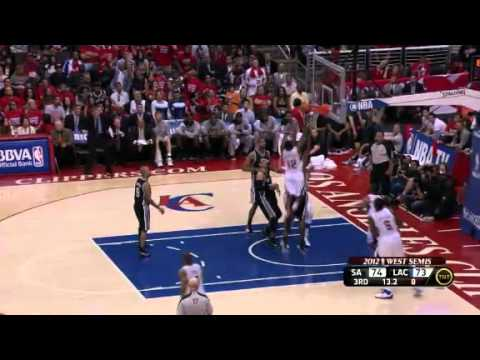 NBA San Antonio Spurs Vs LA Clippers  Game 4  Highlights - Playoffs 2012 (4-0)