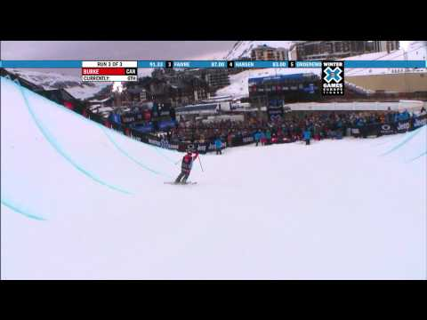 Winter X Games Europe 2011 - Sarah Burke Wins Ski Women's Superpipe Gold