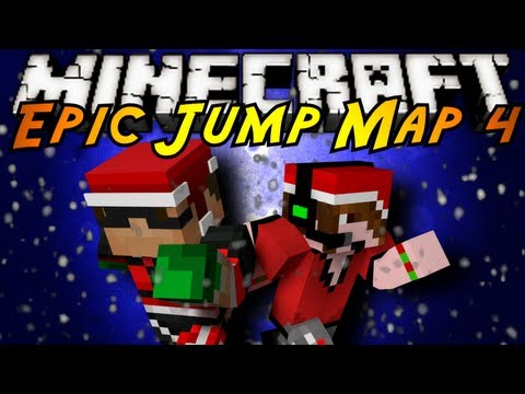 Minecraft: Epic Jump Map Christmas Part 5!