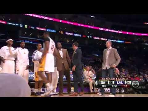 NBA Playoffs 2013: NBA San Antonio Spurs Vs LA Lakers Highlights April 28, 2013 Game 4