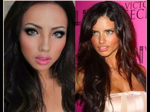 Me as  Adriana Lima !!!A Make-up Transformation !!!
